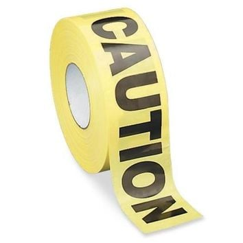 "Sparco Products Barricade Tape, ""Caution"", 3""x1000', Yellow-Black - CASE OF 2"
