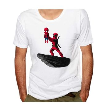 New Fashion Deadpool Tshirt Funny T Shirt Print Dead Pool Men/Women Tshirts Summer Clothes Cotton Tees Short Sleeve Tees 3xl