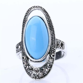 fashion casual women ring vintage jewelry girls ring unique hollow out old silver ring bohemian style best gift rings 32 2