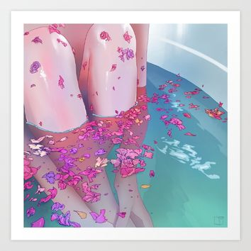 Flower Bath 4 Art Print by Phazed
