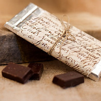Wedding Chocolate Favors - Chocolate Favors for Guests - Wedding Decor -  Rustic Chocolate Favors - Set of 10pcs