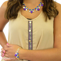 Purple Bee Necklace and Bracelet Set