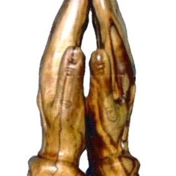 Praying Hands, Olive Wood Carving