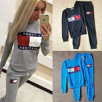 Women 2pcs Hoodies Sweatshirt Pants Sets Casual Tracksuit Gym Sport Suit