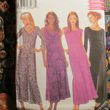 Sale Uncut Simplicity New Look Sewing Pattern, 6925! 10-12-14-16-18-20-22 Sml/Medium/Lrg/XL/XXL/Plus/Women's/Misses/Ankle Length Loose Dress