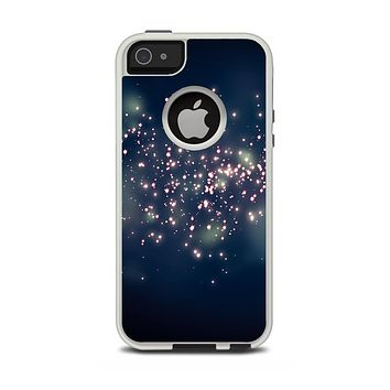 The Dark & Glowing Sparks Apple iPhone 5-5s Otterbox Commuter Case Skin Set