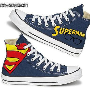Superman Painted Shoes / Custom Converse