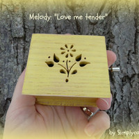music box, flower, mothers day music box, mothers day, music boxes, love me tender, elvis, last minute gift
