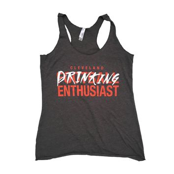 Cleveland Drinking Enthusiasts - Brown and Orange Tank Top