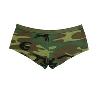Women's Woodland Camo Booty Shorts - Available in Several Sizes:Amazon:Clothing