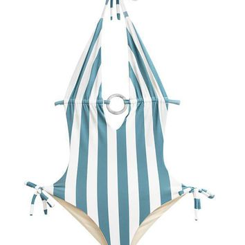 MAYLANA Nina Ocean's Stripes One Piece