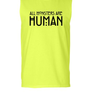 All monsters are human - Sleeveless T-shirt