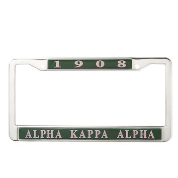Alpha Kappa Alpha License Plate Frame