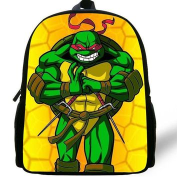 12-inch Mochila Escolar Menino Boys Bag Kids Backpack Teenage Mutant Ninja Turtles School Bags Children Kindergarten Age 1-6