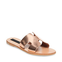 Leather Flat Slip-On Sandal | Steve Madden GREECE