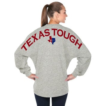 Grey Spirit Jersey - Texas Tough - Game Day Shirt Skyline Pom Pom Billboard Texan South Western Country