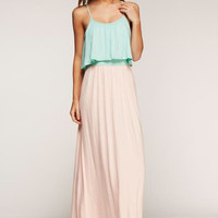 Day Trip Maxi Dress - Mint and Peach