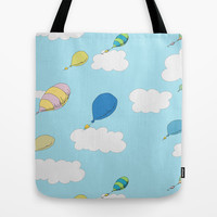 oh the places you'll go pattern...  Tote Bag by Studiomarshallarts