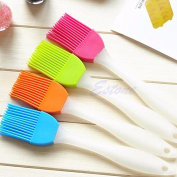 Silicone Bakeware Baking Oil Cream Mixing Cake Batter Spatula Scraper Brush Tool Free shipping-Y102