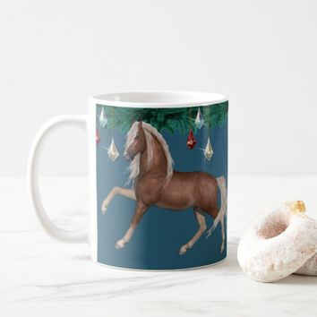 Palomino Horse on Blue Mug
