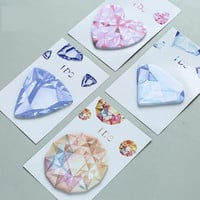 Diamond Memo Pad Kawaii Stationery Office Supplies Post It Diy School Stationery Scrapbooking Sticky Notes Cute Stationery