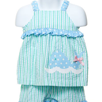 Swing Top Set with Appliqued Whale