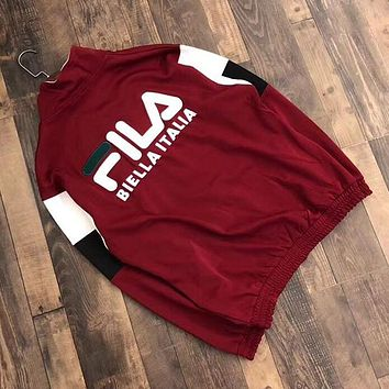 FILA Woman Men Fashion Sport Cardigan Jacket Coat