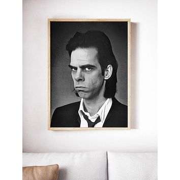 Nick Cave Poster Art Painting Print Canvas Print Music Poster Canvas Poster Design Wall Art Home Gift Poster Home Decor Gift Rock Poster