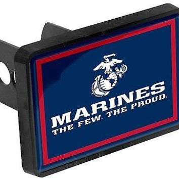 Marines Universal Bumper Trailer Auto Hitch Cover United States Military US Corp