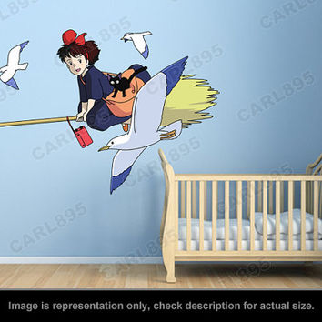 Kiki's Delivery Service Inspired - Kiki and Jiji (A) Wall Art Applique Stickers