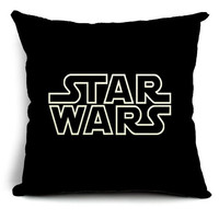 Decorative throw pillows,star wars,throw pillow covers,pillow case.18x18 pillow cover,linen pillow cover sofa cushion cover,#pc016
