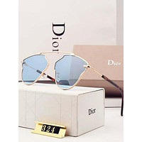 Dior Stylish Ladies Leisure Summer Sun Shades Eyeglasses Glasses Sunglasses Blue I-A-SDYJ