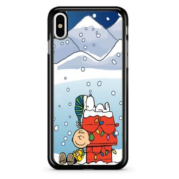Charlie And Snoopy Brown Christmas iPhone X Case