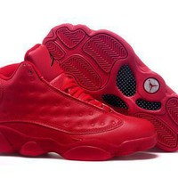 Hot Air Jordans 13 Retro Women Shoes All Red