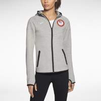 Nike Tech Fleece Full-Zip USOC Women's Hoodie - Dark Grey Heather
