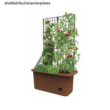 Garden Planter Box Trellis Portable Mobile Tomato Herb Strawberry Yard Patio