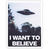 'The X-Files I Want To Believe' Sticker by oxygold