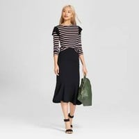 Women's Fluted Midi Skirt - Who What Wear™