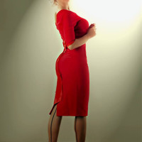 Ruby Mad Men Inspired Pencil Dress  - Custom Sizing