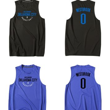 BONJEAN Cheap Men 0 Russell Westbrook Print Jersey Top Quality Uniforms Sports Basketball Jerseys Breathable Training Shirts