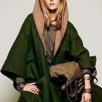 Free People Cult Of Beauty Hooded Cloak