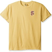 NCAA Florida State Seminoles State Baseball Lace Short Sleeve T-Shirt, Medium, Mustard