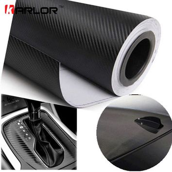127cmx15cm 3D Carbon Fiber Vinyl Film Carbon Car Wrap Sheet