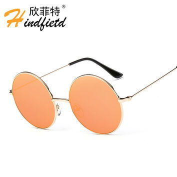 Vintage retro small Round circle metal frame sunglasses for women brand designer sun glasses Oculos de sol female mujer eyewear