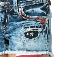 Miss Me American Flag Distressed Shorts