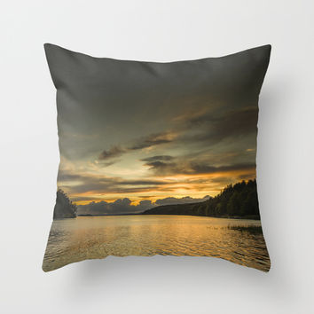 Echoes of days Throw Pillow by HappyMelvin