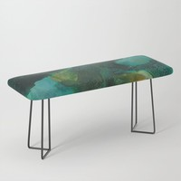Green and Gold Bench by duckyb