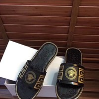Versace Woman Men Fashion Casual Sandals Slipper Shoes