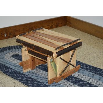 A&L Furniture Co. Amish Hickory Gliding Ottoman  - Ships FREE in 5-7 Business days