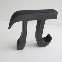 3D Printed Wall Hanging Pi Symbol Math Geometry Geekery Circle Font Teacher Desk Paperweight Decoration Greek Letters Science Engineer